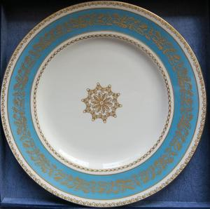 Royal Worcester  Years Of Service Christmas plate