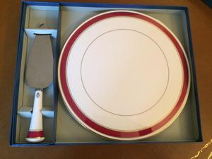 Royal Worcester cake plate and slice