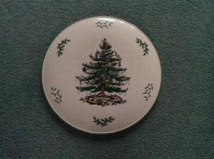 Spode Round Xmas Tree Plate