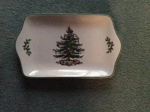 Spode Xmas Tree Mince Pie Plate