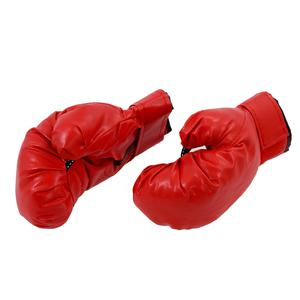 Sponge Padded Red Faux Leather Boxing Gloves for Child BF