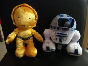 Star Wars C3PO and R2D2 plushes