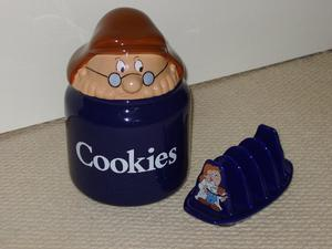 Tetley Tea Folk cookie jar and toast rack by Wade