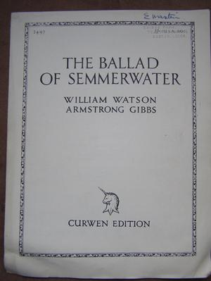 The Ballad of Semmerwater - Watson / Gibbs