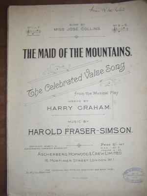 The Maid of The Mountains - Graham / Fraser-Simpson