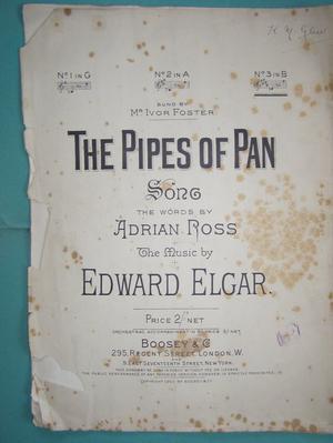 The Pipes of Pan - Ross / Elgar (Incl P&P)