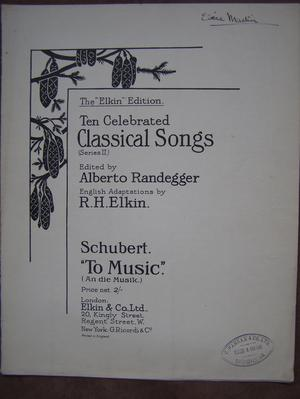 To Music - Randegger / Schubert
