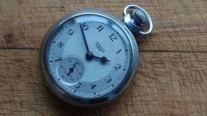 VINTAGE  SMITHS EMPIRE WIND UP POCKET WATCH 2 TONE DIAL