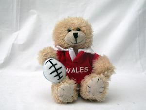 WELSH RUGBY SOUVENIR TEDDY BEAR, Wales, Cymru