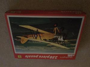 Waddingtons 250 piece puzzle Avro Tutor biplane