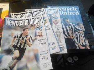 newcastle united football programmes 21
