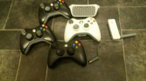 xbox 360 controllers X4 plus key board and wireless adapter