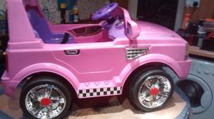 12 volt land rover style electric ride on jeep in pink