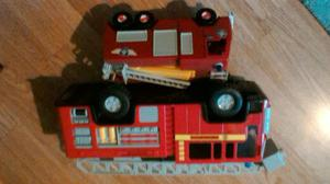 2 fire engine toys with sounds