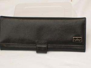 ANAGRAM Black Leather Bi-fold Wallet/Purse NEW