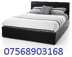 BED STILL WRAPPED DOUBLE LEATHER BED INC MATTRESS FREE BEDSIDE CABINET 4