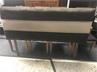 BROWN AND CREAM SUEDE HEADBOARD