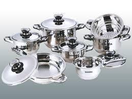 Bavaria Bidermayer – 12 Piece Stainless Steel Cook Set –