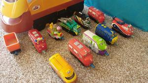 Chuggington Train track set, characters and carrier