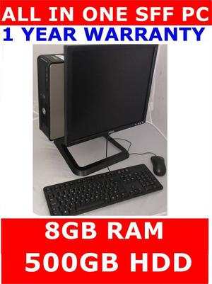 "DELL ALL IN ONE SFF COMPUTER ✔ CORE 2 DUO ✔ 8GB RAM 19"""