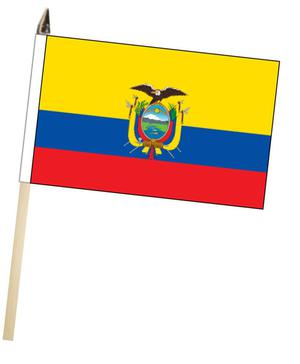 Ecuador Large Hand Waving Courtesy Flag