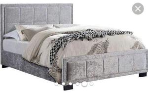 Hannover crushed velvet double bed