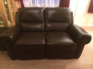 Immaculate Brown Leather Settee