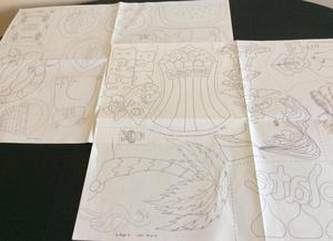 JOBLOT OF 16 X LARGE SHEETS OF IRON ON TRANSFERS