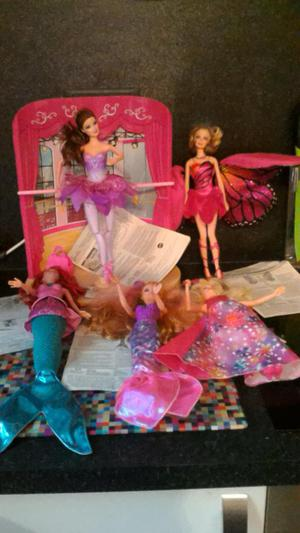 Job lot Barbie dolls ballerina Disney musical girl in pink s