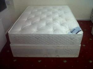 KING SIZE CROWN DIVAN BED AND MATTRESS
