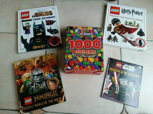 Kids lego books and unofficial lego block bundle of  bricks
