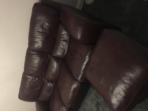Leather sofas (2 seater and 3 seater)