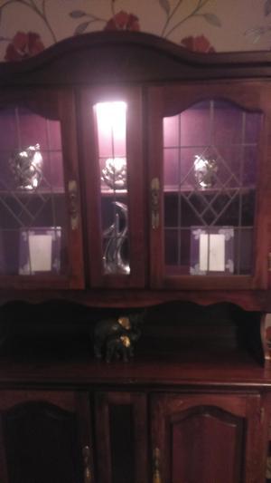 Mahogany Display cabinet with lighting