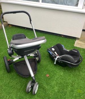 Quinny Buzz pushchair and Maxi-cosi car seat
