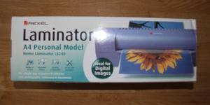 Rexel Laminator Boxed New with Laminating Pouches