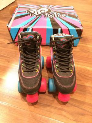Rio Roller roller quad skates size 1colour passion