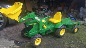 Rolly John Deere pedal tractor R Pneumatic Tyres Loader