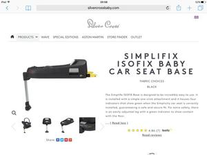 Silver Cross Isofix Seat Base & Car Seat