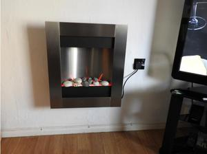 Stainless Steel Electric Fireplace / Wall Mounted. in Exeter