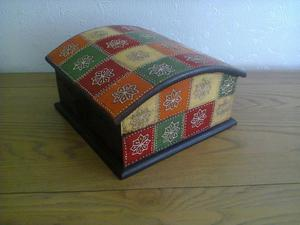 Wooden Colourful Storage Box