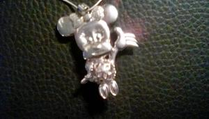2 necklaces stirling silver