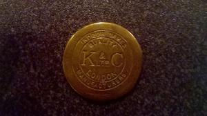 8 Brass old slot machine tokens..collectable