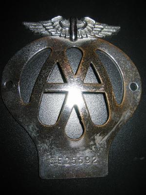 AA Car Badge