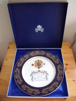 Aynsley Charles/Di wedding, royal memorabilia, plate.