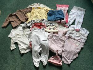 Baby Girl Clothes 0-3 months.