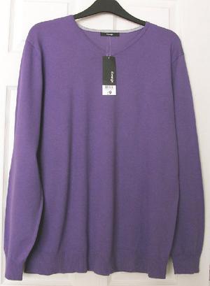 Bnwt mens purple jumper by George - sz L B22
