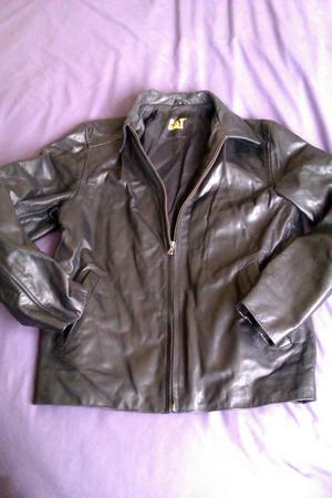 CAT MEN'S LEATHER JACKET QUALITY THICK LEATHER JACKET