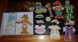 Collection of wooden games and puzzles