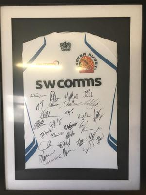 Exeter Chiefs signed shirt