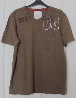 GORGEOUS MENS BROWN T SHIRT BY NEXT - SZ M B17